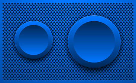 Abstract 3D background, blue with badges and copy space, vector illustration.