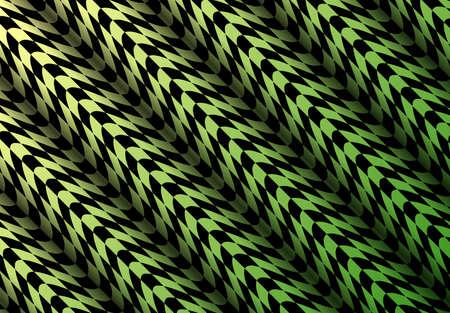 Abstract 3D Background yellow green, distorted wavy checkered pattern, vector illustration Illusztráció