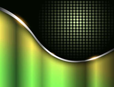Business background green black metallic, elegant vector illustration. Illusztráció