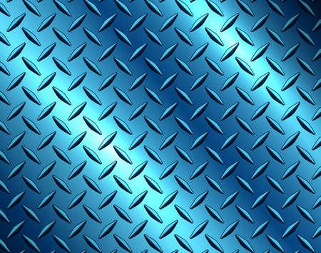 The diamond steel metal sheet texture background, metallic blue shiny vector illustration.