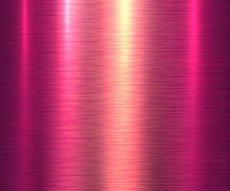 Metal pink texture background, brushed metallic texture plate. Ilustración de vector