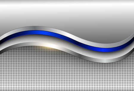 Business background, silver metallic elegant 3D vector design.