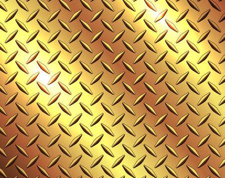 The diamond steel metal sheet texture background, metallic gold shiny vector illustration.