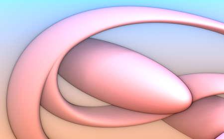 Abstract background, fantastic 3D pink structures, render illustration. Stock fotó