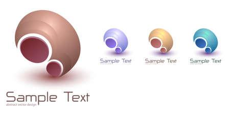 Logo business 3D shape, dynamic technology abstract symbol. vector illustration. Illusztráció