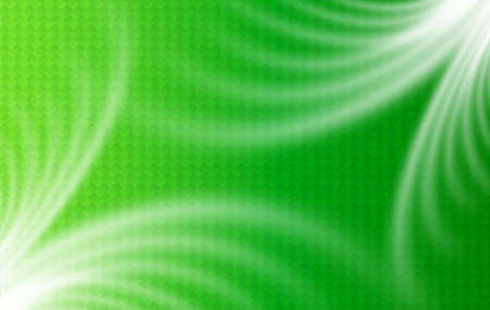 Green background with wavy transparent lines and interesting pattern, vector abstract design.