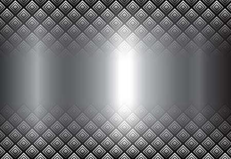 Metallic background 3D, silver with interesting transparent pattern, vector illustration. Illusztráció