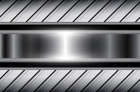 Abstract background silver metallic, shiny metal with interesting pattern, vector illustration. Illusztráció
