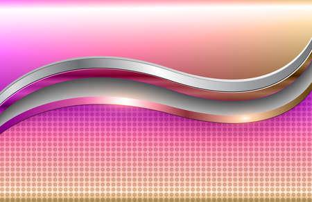 Business background, silver purple pink 3D vector design.