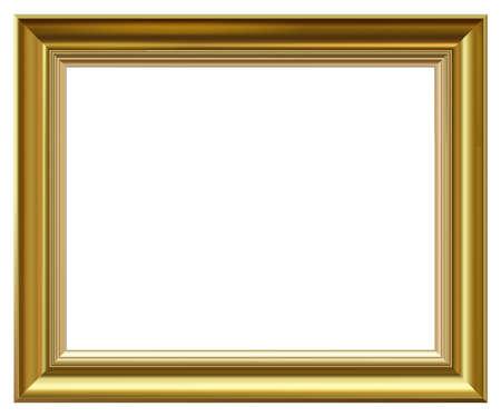 Golden vintage style vector frame isolated on white. Vektorové ilustrace