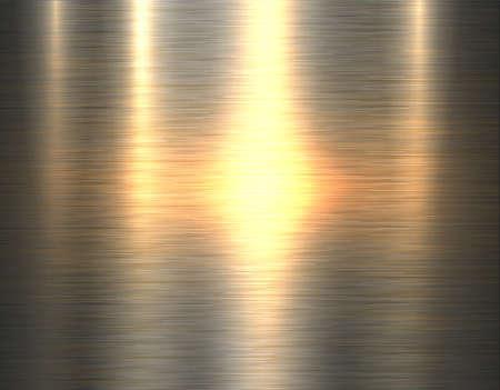 Metal gold texture background, golden brushed metallic texture plate, vector illustration.