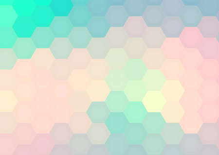 Hexagon mosaic background, abstract honeycomb colorful vector design.