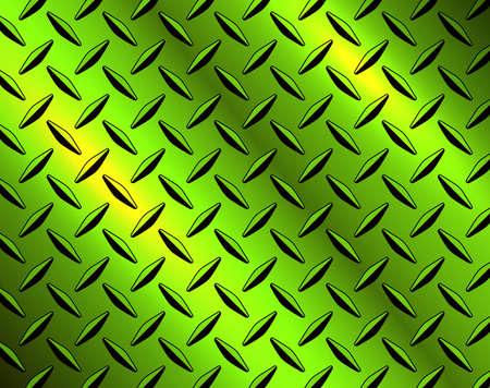 The diamond steel metal sheet texture background, metallic green shiny vector illustration.