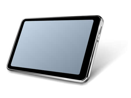 Modern tablet 3D realistic icon design, vector illustration. 向量圖像