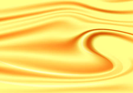Gold abstract background, silky metallic golden waves, vector illustration.