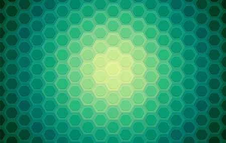 Hexagon mosaic background, abstract green honeycomb colorful vector design.