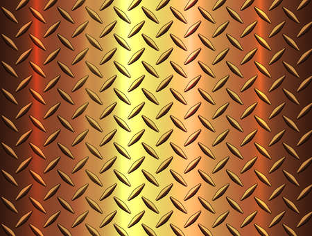 Diamond steel metal sheet texture background, metallic gold shiny vector illustration.