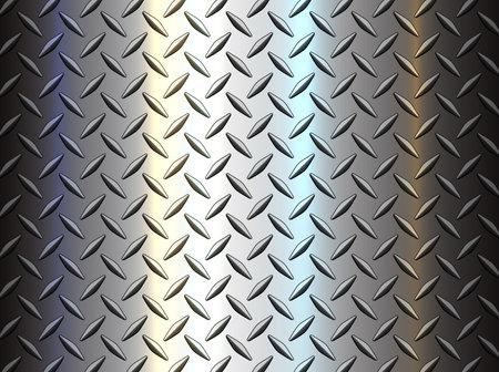 Diamond steel metal sheet texture background, shiny vector illustration.