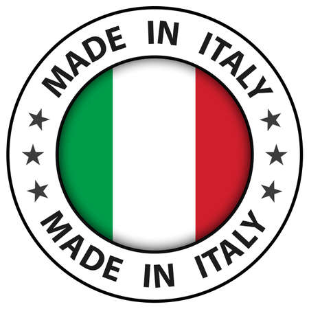 Made in Italy icon, circle button, vector illustration.