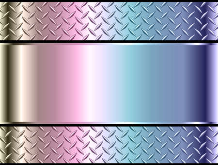 Background silver metallic, 3d chrome vector design with diamond plate opalescence metal texture.