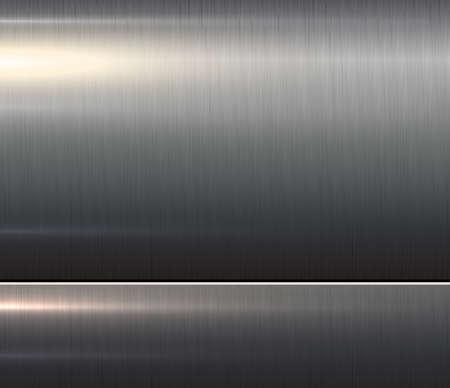 Metal dark silver texture, shiny brushed metallic background, 3D vector illustration.