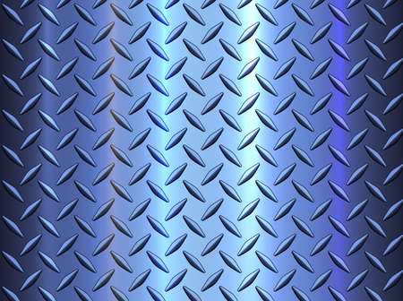 Diamond steel metal sheet texture background, metallic blue shiny vector illustration.