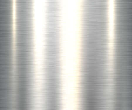 Metal silver steel texture background, shiny brushed metallic texture plate. Vettoriali