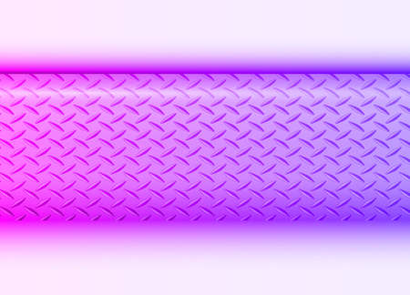 Background purple blue with banner and diamond plate pattern, elegant shiny metallic vector illustration.