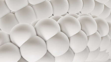 Abstract white background with 3D spheres, interesting white gray background illustration.