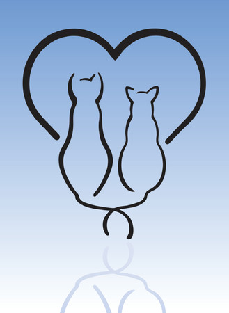 Gatos en el amor  Foto de archivo - 1029145