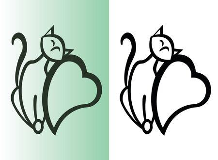Kat op het hart