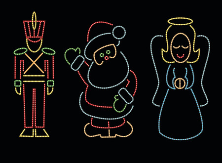 Three outdoor Christmas display designs