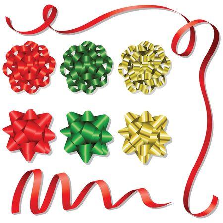 Weihnachten Bow Design Set Standard-Bild - 1886532