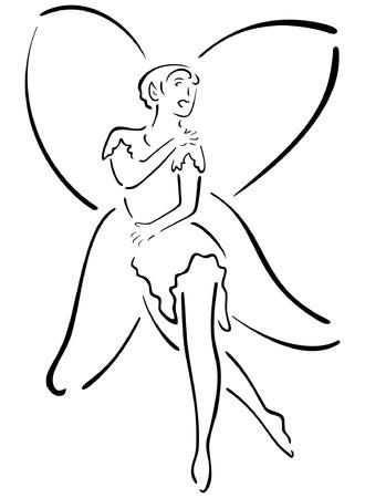 Fairy Illustration Illusztráció