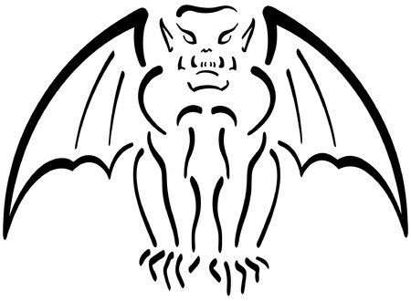Gargoyle Illustration Stock Vector - 1907791
