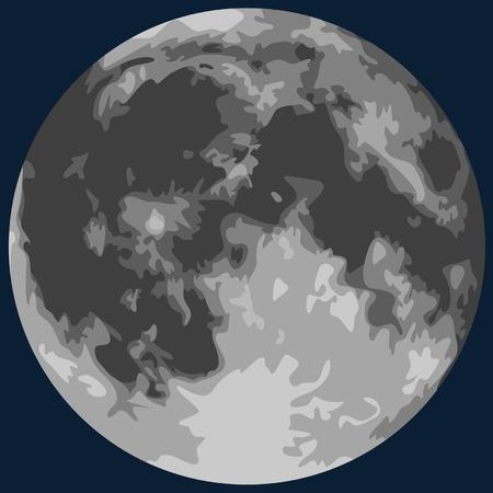 volle maan: Volle Maan Stock Illustratie