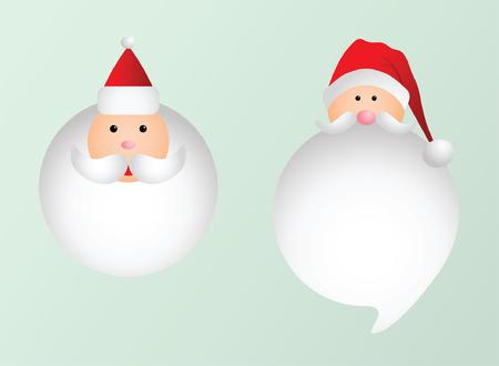 Santa Design Set Illusztráció