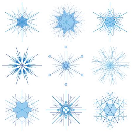 Snowflake Design Set Illusztráció