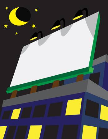 Place your advertisements, announcements and more on a billboard  Illustration