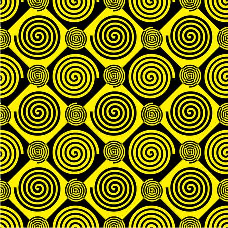 Spiral of Archimedes pattern with alternating colors