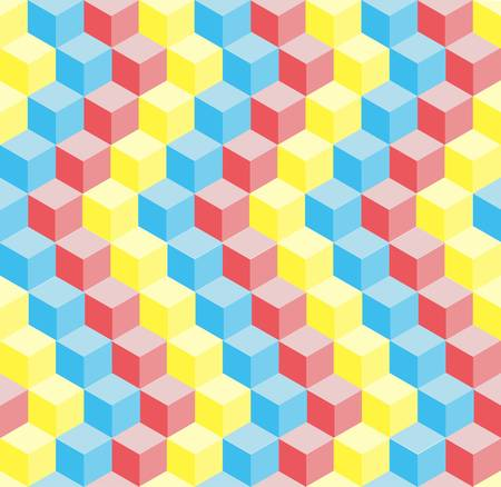 Seamless pattern of different colored blocks stacked on one another Stock Vector - 14064404