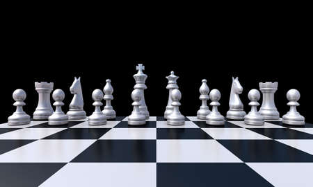 3D rendering of the chess photo