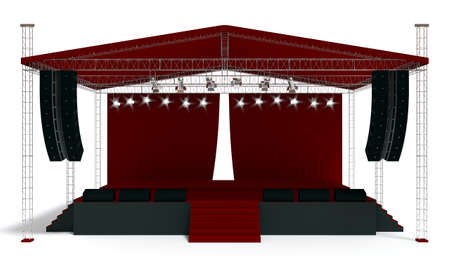 concert stage: 3D rendering of the stage