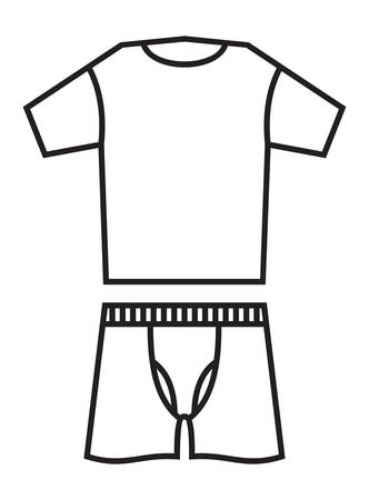 underclothes: Vector illustrations of the underwear