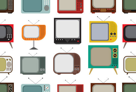 retro tv: Vector illustrations of the Retro tv pattern