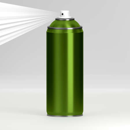 hairspray: 3D rendering of the spray