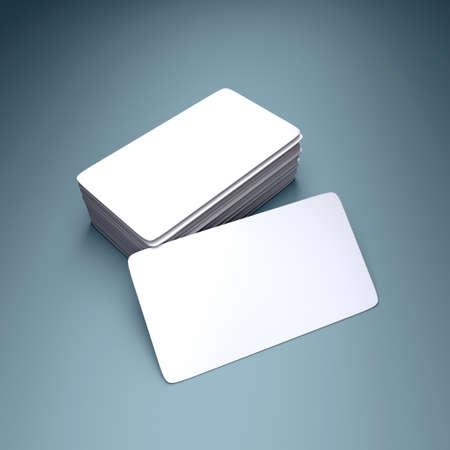 personalausweis: 3D-Rendering der leere Visitenkarte Lizenzfreie Bilder