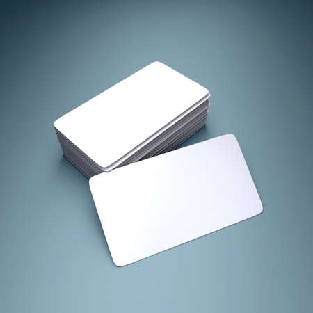presentation card: 3D rendering of the blank business card Stock Photo