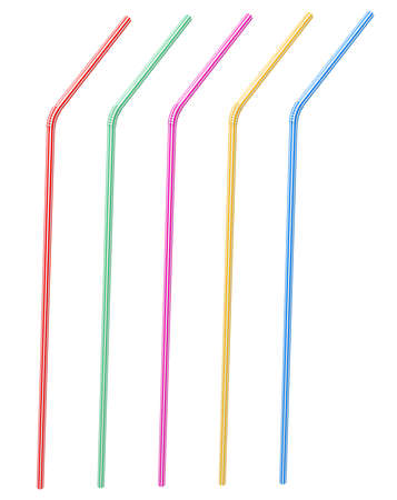 plastic straw: 3D rendering of the straw Stock Photo