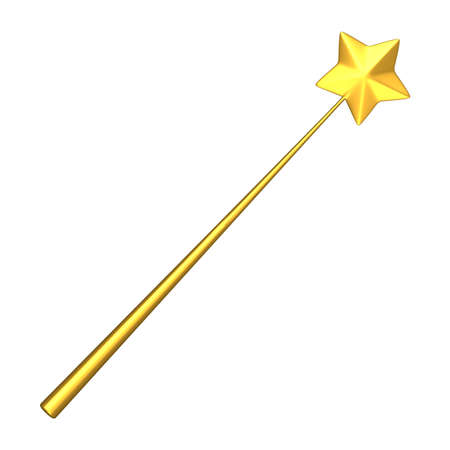 wish desire: 3D rendering of the wand